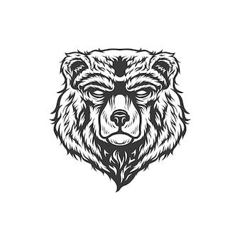 Bear head illustration design