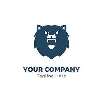 Шаблон логотипа bear head