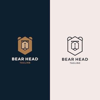 クマの頭のロゴ