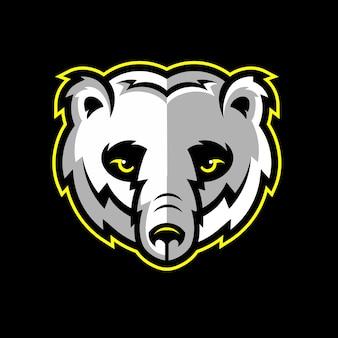 Bear head mascot logo illustration