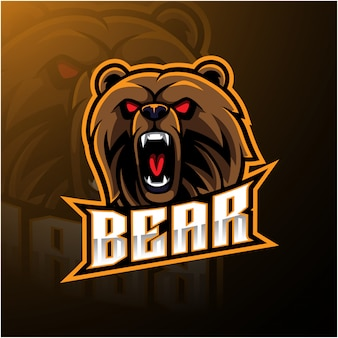 Bear head mascot logo