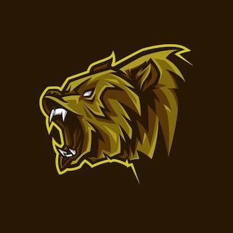 ベアヘッドマスコットロゴ