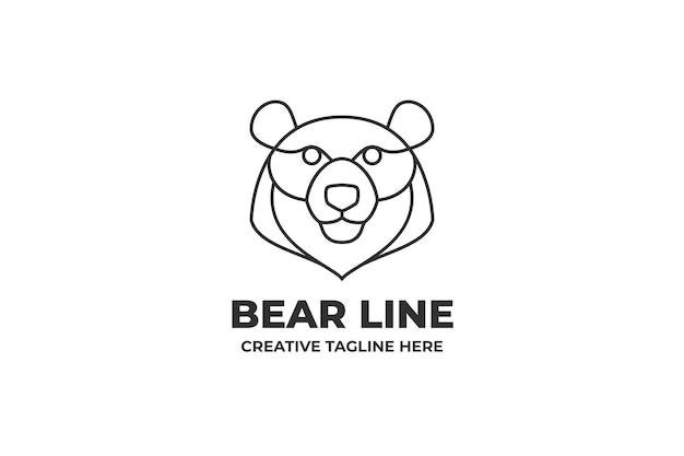 Медведь голова монолинии бизнес логотип