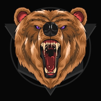 Bear head scream