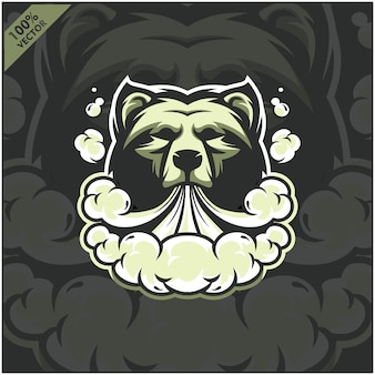 Bear head vapor e-cigarette, vape, vaporizer cigarette, electronic smoke