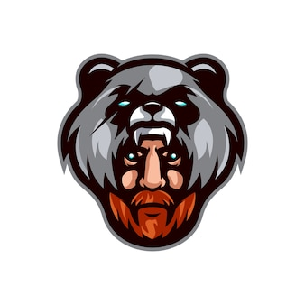Bear hunter logo template