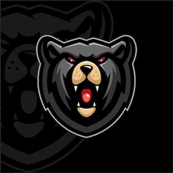 Медведь значок дизайн