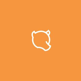 Bear line art simple minimalist logo design inspiration vector illustration