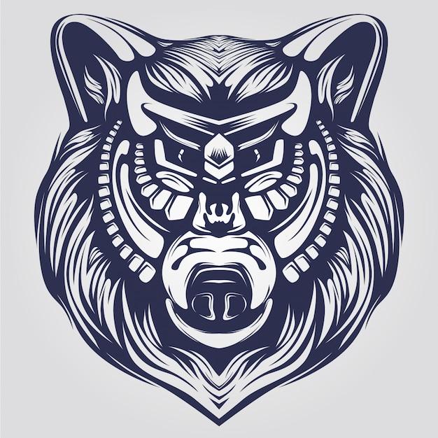 Bear line art