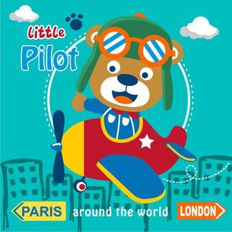 Bear the little pilot