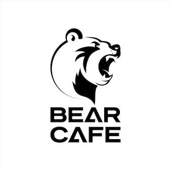 Bear logo animal head vector wildlife
