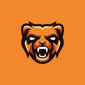Bear logo design collection