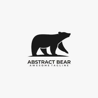 Bear logo design template illustration