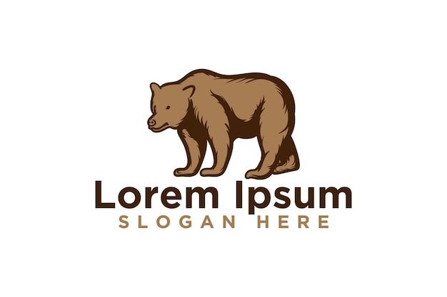 Bear logo designs, vector illustration