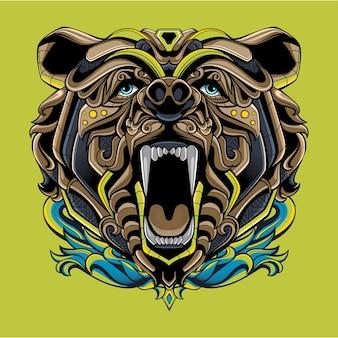 Bear logo with full ornament