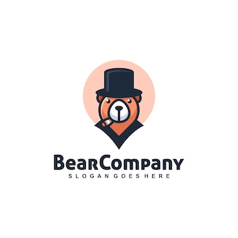 Bear mafia vector template