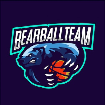 Bear mascot for basketball team
