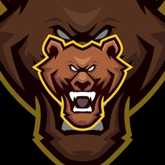 Bear mascot logo templates