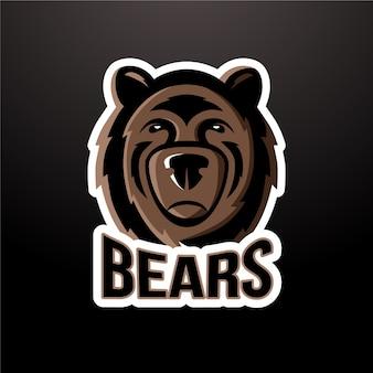 クマのマスコットロゴ