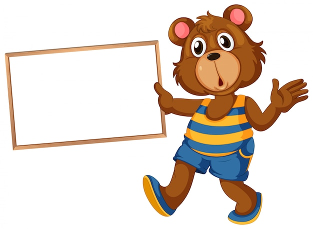 Bear on note banner