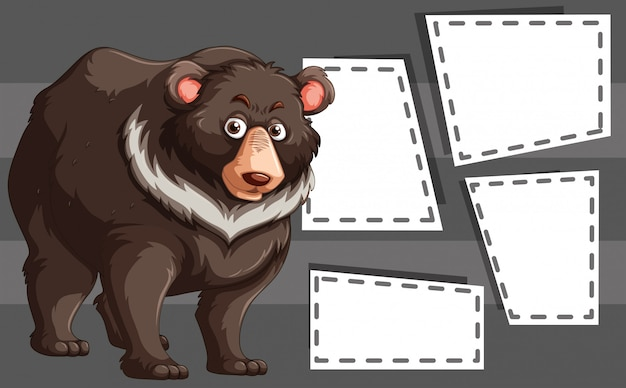 Bear on note template