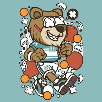 Bear  ping pong cartoon