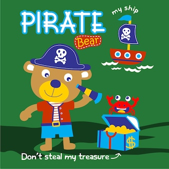 Bear the pirate