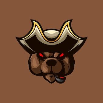 Медведь пиратов талисман киберспорт