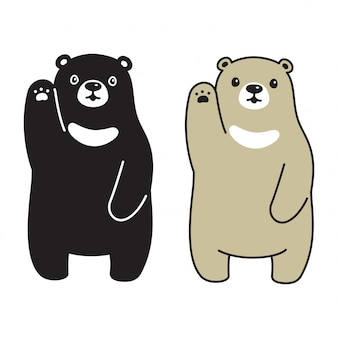Bear polar character cartoon illustration doodle