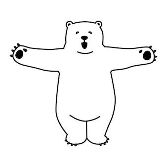 Bear polar hug character cartoon icon