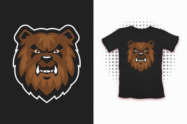 Bear print for t-shirt design