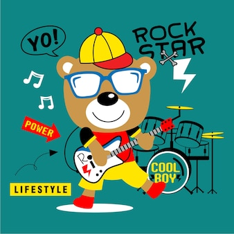 Bear the rock star
