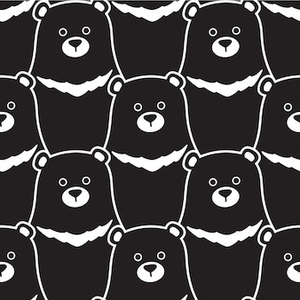 Bear seamless pattern polar illustration cartoon
