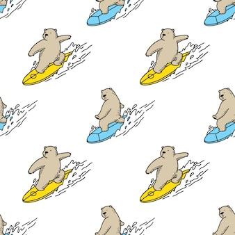 Bear seamless pattern