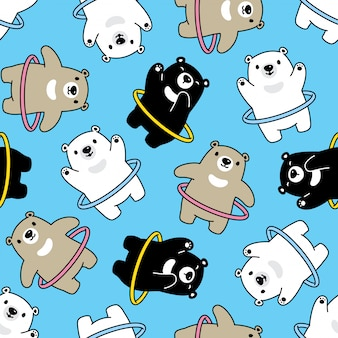 Bear seamless pattern