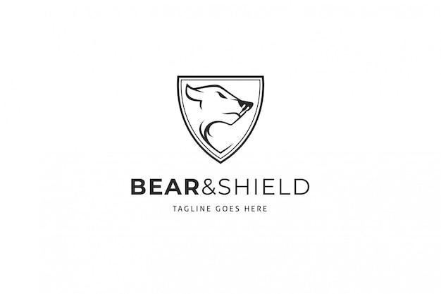 Логотип медведь щит