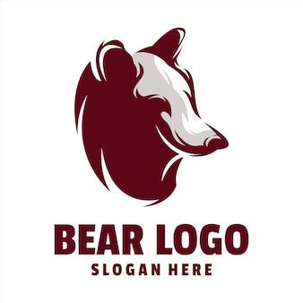 Bear shilhotte logo vector