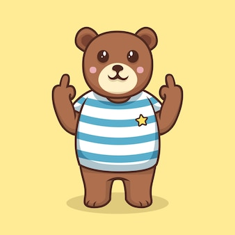 Bear showing the fuck you symbol