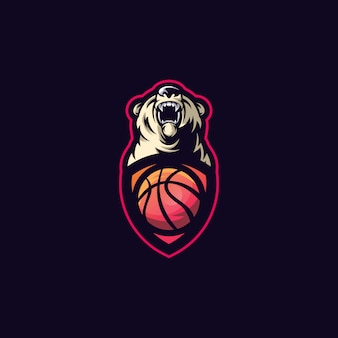 Bear sport ball logo