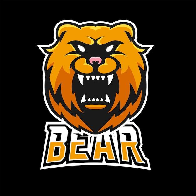 Bear sport and esport gaming mascot logo