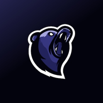 Bear sport team logo