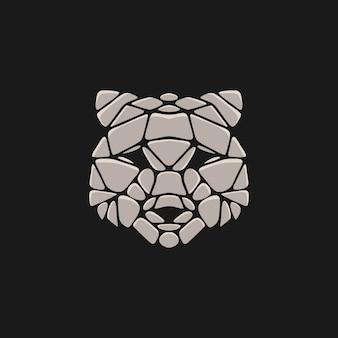 Bear stone illustration