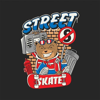 Bear street skateboard