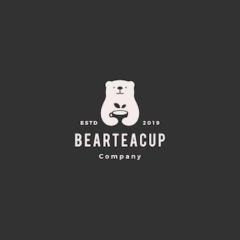Bear tea cup logo