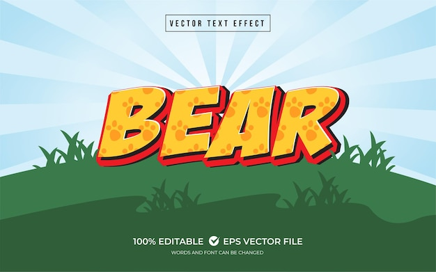 Bear text effect