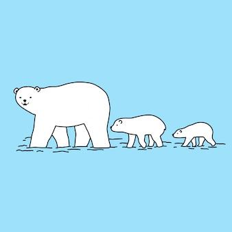 Bear vector cartoon illustration
