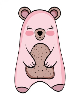 Bear wild animal cartoon