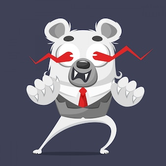 Bear with business suit