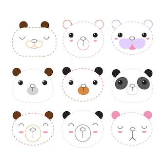 Bear worksheet vector design