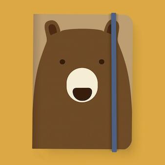 Графическая иллюстрация для ноутбука bear